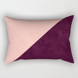 Modern blush pink burgundy watercolor color block geometric Rectangular Pillow