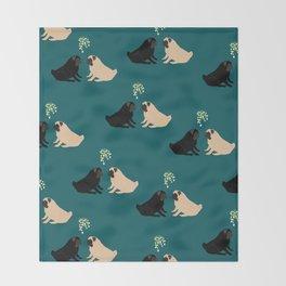 Christmas Pug Love Throw Blanket