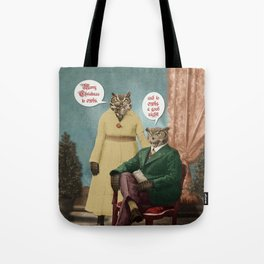 Merry Christmas to Owls, and to Owls a Good Night!! Tote Bag