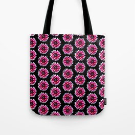 Dahlias Pattern  in Pink, Red Tote Bag