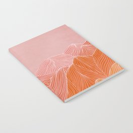 Lines in the mountains - pink II Notebook