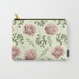 Secret Garden Pink and Green Carry-All Pouch
