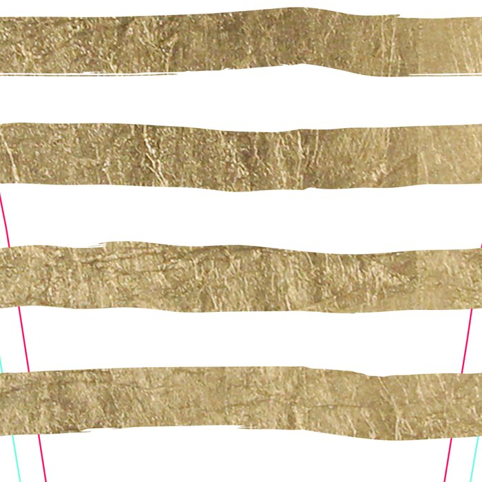White faux gold elegant modern striped pattern Leggings