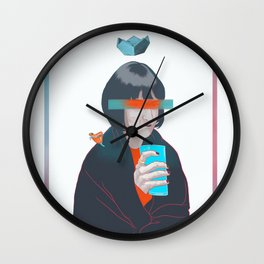 blue cold milk, your winter highness Wall Clock