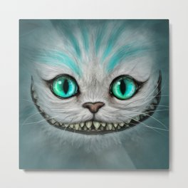Smile Cat - CHESIRE Metal Print