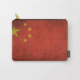 Old and Worn Distressed Vintage Flag of China Carry-All Pouch