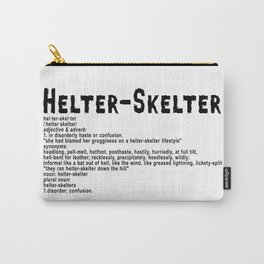 Helter Skelter (black on White) Carry-All Pouch