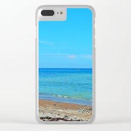 Perce Beach panoramic Clear iPhone Case