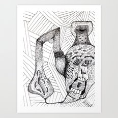 Screaming Face Art Print