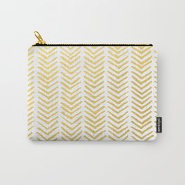 Brush painted chevron in gold Carry-All Pouch