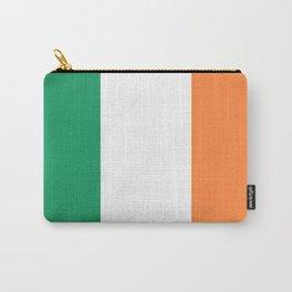 Irish Tricolour Green Orange and White Irish Flag Carry-All Pouch