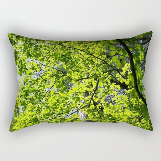 Spring Green Rectangular Pillow by Marina Scheinost Society6