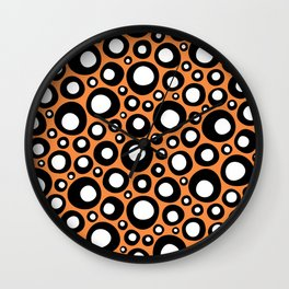 Wobbly Bits Abstract Wall Clock
