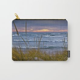 Sunset Photograph of a Dune with Beach Grass at Holland Michigan No 0199 Carry-All Pouch
