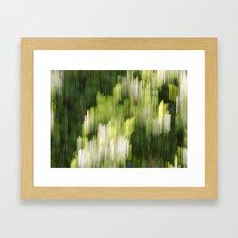 Green Hue Realm Framed Art Print