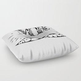 Mr Moustache Floor Pillow