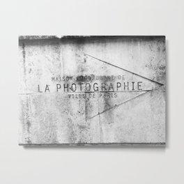 La Photographie Metal Print