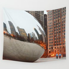 Chicago Bean - Big City Lights Wall Tapestry