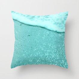 Sparkling Aqua Beach Throw Pillow