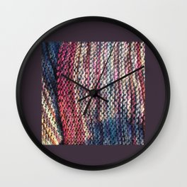 Knit Me Blue Wall Clock
