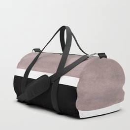 Mid Century Modern Minimalist Art Colorblock Rothko Inspired Squares Grey and Black Simple Abstract Duffle Bag