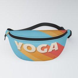 Yoga retro typography Fanny Pack