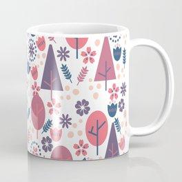 Purple Palette Trees And Flowers Coffee Mug