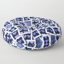I Love You This Much Blue Floor Pillow