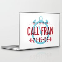 crossfit Laptop & iPad Skins featuring For a Good Time, Call Fran by Paige Hake