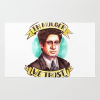 mulder Area & Throw Rugs featuring In Mulder We Trust by Tiffany Willis