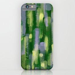 Brushstrokes in Green iPhone Case
