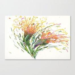 Flower Symphony-Cactus Bloom Canvas Print