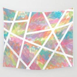 Rainbow Strokes Wall Tapestry