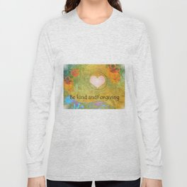 Guitar Flowers Kind and Forgiving Long Sleeve T-shirt