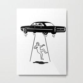 car abduction of aliens Metal Print