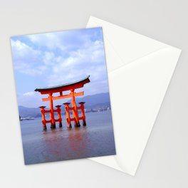 Red Gate at Low Tide Stationery Cards