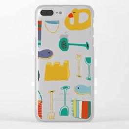 beach gear blue Clear iPhone Case