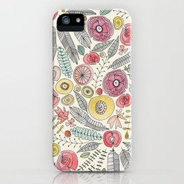 feather fleur watercolor iPhone Case