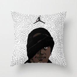 SKI MASK J Throw Pillow