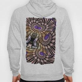 Metallic spirals, shapes and textures. Hoody