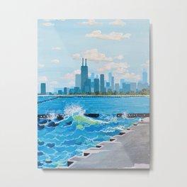 City on the Lake Metal Print