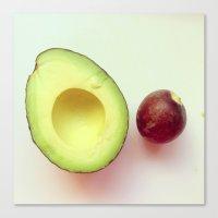 avocado Canvas Prints featuring Avocado by Leigh Eldridge