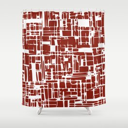 Crimson red abstract Shower Curtain