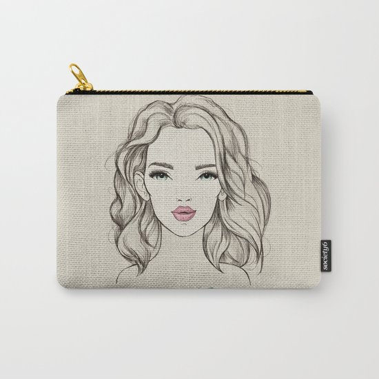 Green girl Carry-All Pouch