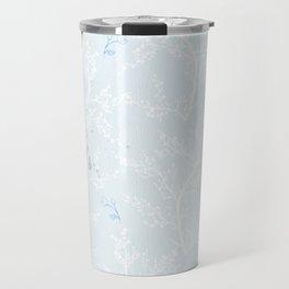 Japan Sakura Flowers - Blue Romance Travel Mug
