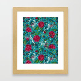 Death of Summer (carmine and blue) Framed Art Print