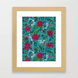 Death of Summer (carmine and blue) Framed Art Print
