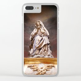 Weeping Madonna Clear iPhone Case
