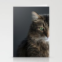 maine Stationery Cards featuring Maine Coon by Joyce Vincent