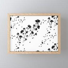 Large Daisy Design Framed Mini Art Print